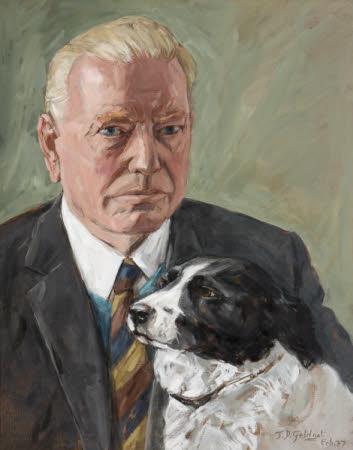 Philip Yorke III (1905 - 1978), with his Dog 'Trixie'