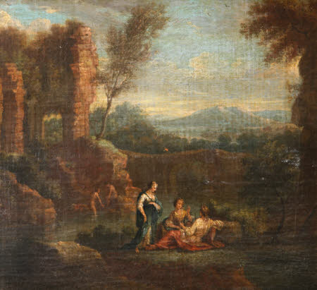 Classical Landscape with Ruins and Women