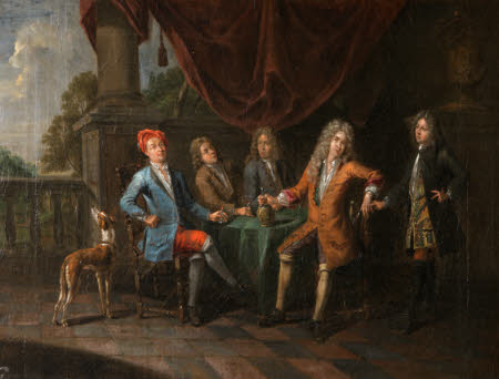 A Group of Gentlemen Drinking