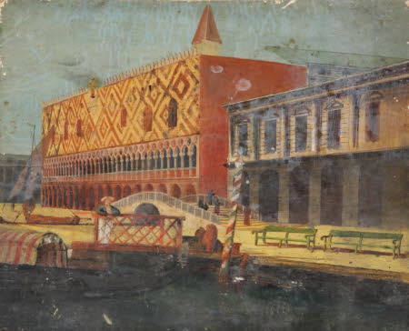 View of the Molo, the Doge's Palace and the Prigioni, Venice