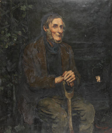An Elderly Gardener (possibly Colonel Thomas Thomas)