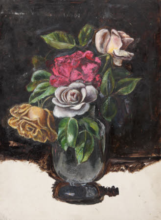 Still Life of Roses in a Vase (from a Portfolio of oil sketches)