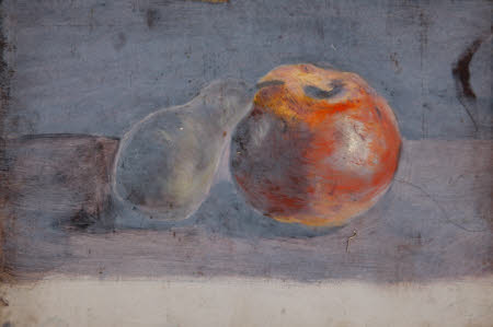 Still Life of an Apple and Pear (from a Porftolio of oil sketches)