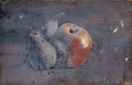 Still Life of an Apple and a Pear (from a Portfolio of oil sketches)