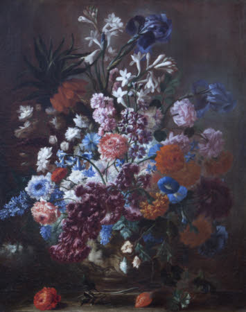 Still Life with Summer Flowers in a Urn