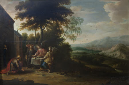 Abraham and Sarah visited by Three Angels