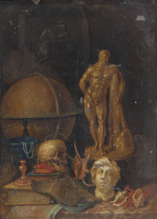 A Vanitas with a Model of the Farnese Hercules