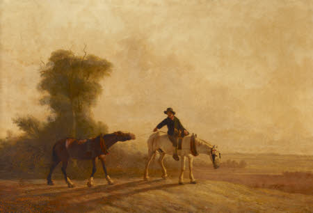 Landscape, Boy with Farm Horses
