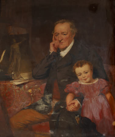 George O'Brien, 3rd Earl of Egremont (1751-1837) and his Granddaughter  the Hon. Caroline Sophia ...