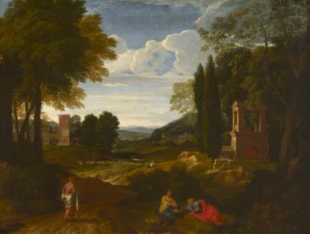 Italian Scene with a Shrine