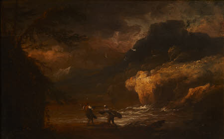 A Coastal Landscape with Fishermen in a Storm
