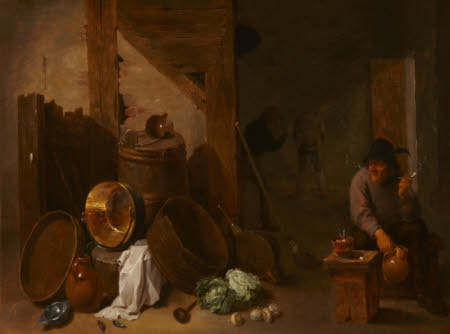 Kitchen Interior with Toper and other Peasants beyond