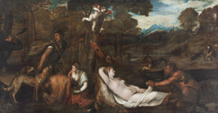 Venus and a Satyr (The 'Venus del Pardo'; after Titian)