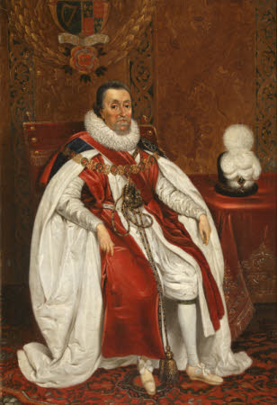 King James I (James VI of Scotland) (1566–1625) in Garter Robes