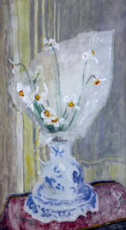 Narcissus Pheasant's Eye in a Blue and White Jug