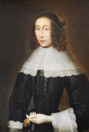 An Unknown Lady holding a Watch