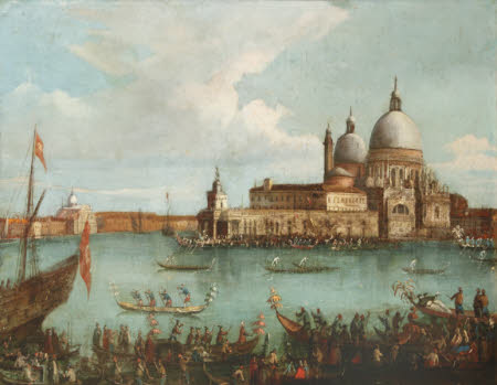 Regatta at the Entrance to the Grand Canal, Venice