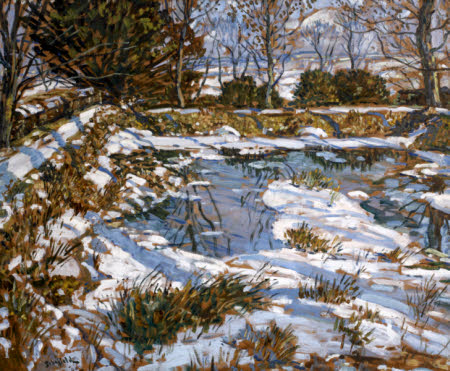 Godolphin Pond in the Snow (recto); Goldolphin Pond in Autumn (verso)