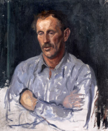 A St Ives Fisherman (from a set of six portraits): Tommy Daniel (unfinished)