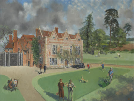 The Gardens of Greys Court with Members of the Brunner Family