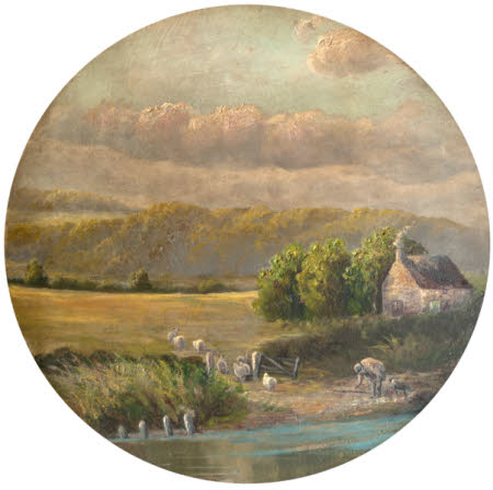 Landscape with a Shepherd, his Dog, his Flock, and a Cottage