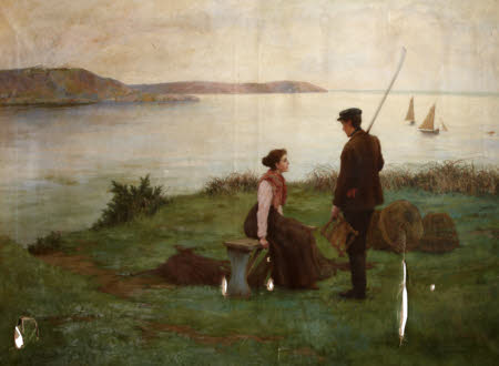 A Fisherman and a Woman beside a Shore