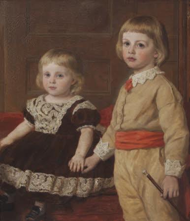 Stephen Langton Massingberd (1869-1925) and his Sister Mary Langton Massingberd, later Mrs Hugh ...