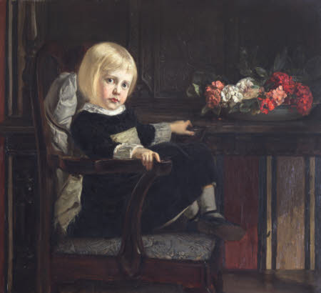 Diana Langton, Lady Montgomery-Massingberd (1872 - 1963) as a Child