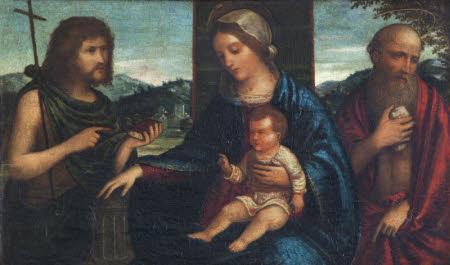 The Madonna and Child with Saint John the Baptist and Saint Jerome