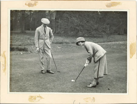 The Duke of York later King George VI (1895-1952) and the Duchess of York later Queen Elizabeth ...