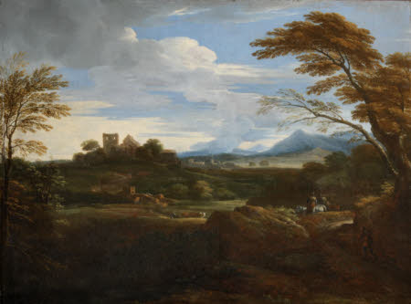 A Southern Landscape with Shepherds and a Distant Town