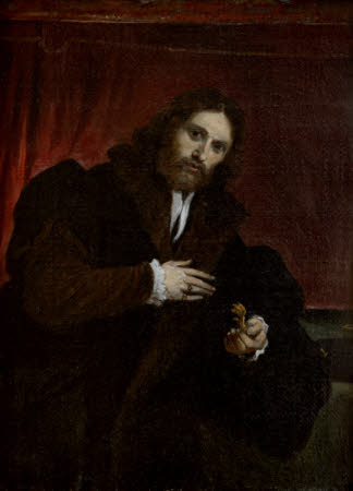 Man in Fur-lined Coat holding a Lion's Claw (after Lorenzo Lotto)