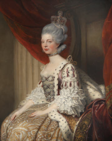 Queen Charlotte (of Mecklenburg-Strelitz) (1744-1818) in Robes of State