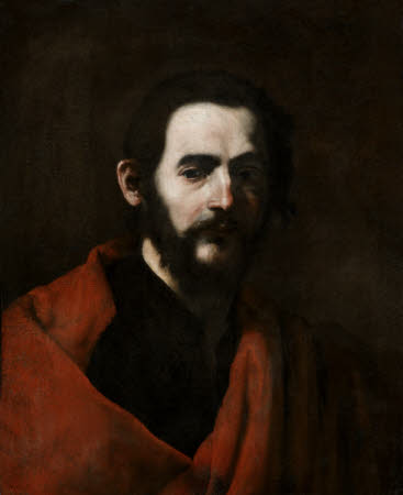Head of a Bearded Man in a Red Cloak, a Study for Saint James of Compostella