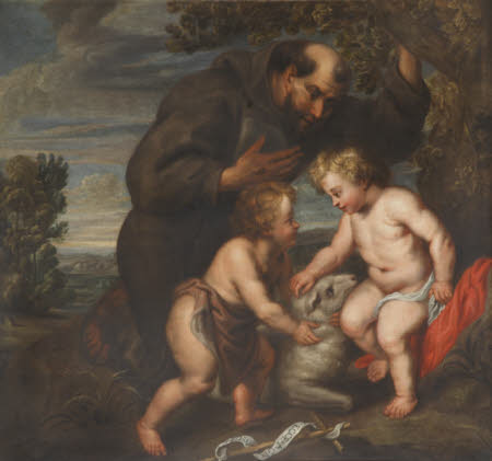 Saint Francis contemplating Christ and the Infant John the Baptist