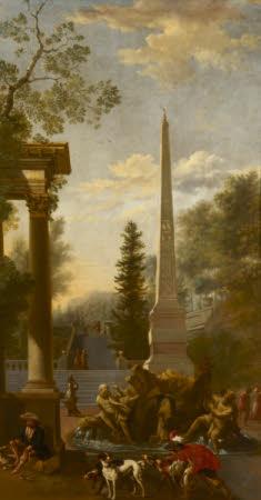 A Capriccio with Bernini's Central Fountain of the Piazza Navona, Rome