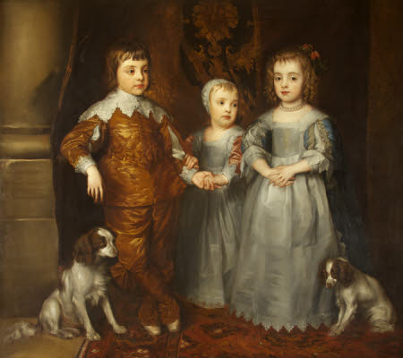 The Three Eldest Children of King Charles I (after Van Dyck)