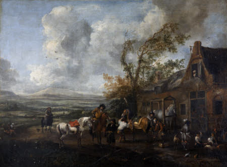 Travellers at a Blacksmith's Shop