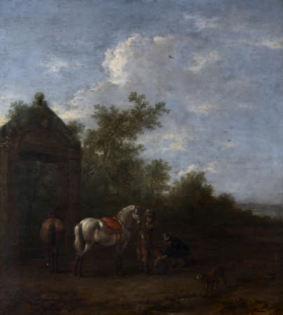 A Landscape with Horsemen and Dogs
