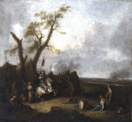 An Encampment with Artillery and Camp Followers