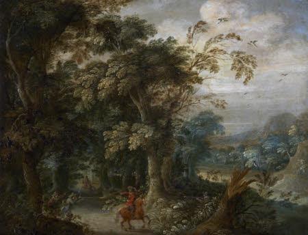 Bandits ambushing a Traveller
