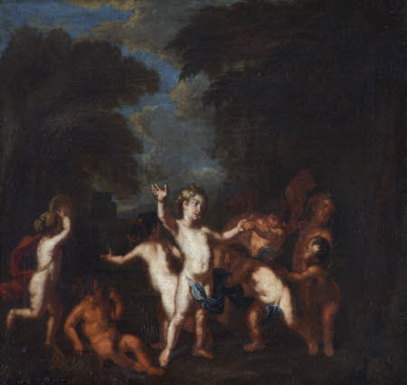 Putti celebrating with Music (after Van Dyck)