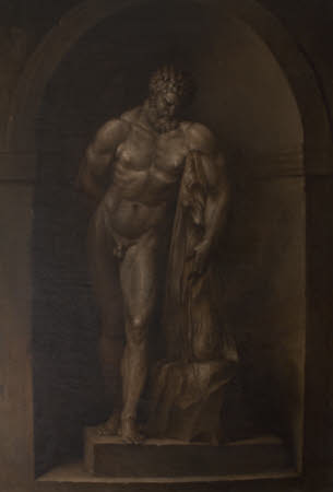 The Farnese Hercules (Grisaille Paintings of Classical Statuary: a set of eight reproductions of ...
