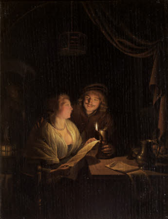 Lovers singing by Candlelight