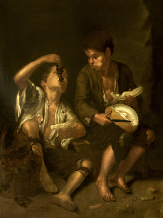 Two Urchins eating Melon and Grapes (after Murillo)