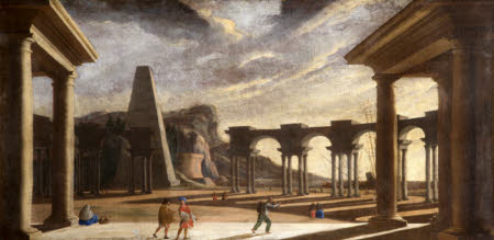 Architectural Capriccio of Ancient Rome with Figures: The Middle Part of the Circus Maximus