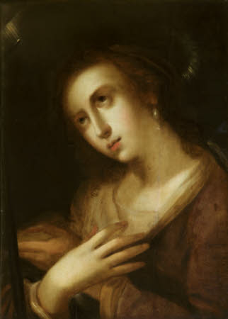 Head of the Magdalen adoring the Cross