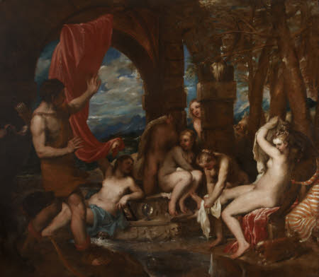 Diana and her Nymphs discovered by Actaeon (after Titian)