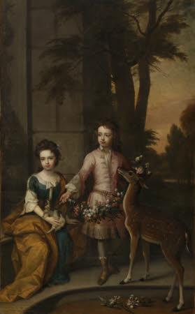 Lionel Sackville, 1st Duke of Dorset (1688-1765) and his Sister Lady Mary Sackville, later Duchess ...