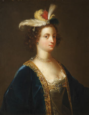Imaginary Portrait of a Lady in a Plumed Hat and Fanciful Seventeenth-century Dress